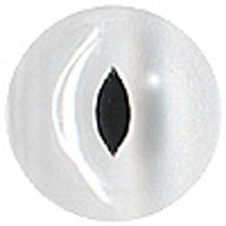 Glass Clear Eyes (Slit Pupil) 16mm