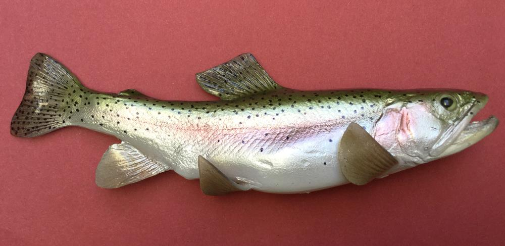 replica brown trout bait fish  8.1/2
